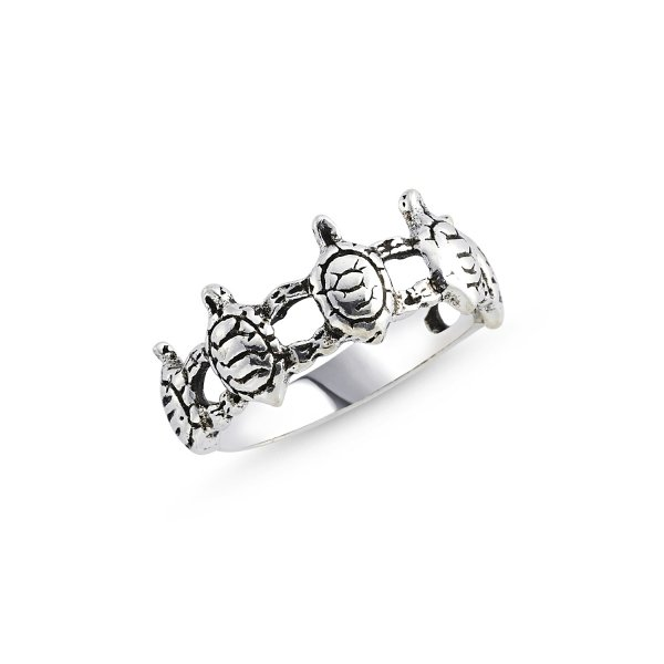 Stoneless Turtle 925 Sterling Silver Ring  - R84114