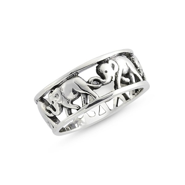 Stoneless Elephant 925 Sterling Silver Ring - R84116