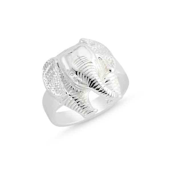 Stoneless Elephant 925 Sterling Silver Ring  - R84118