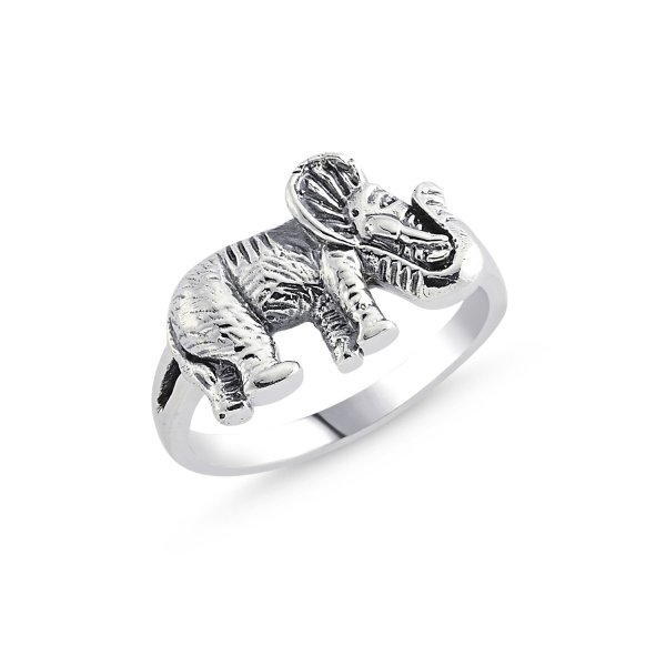 Stoneless Elephant 925 Sterling Silver Ring  - R84119