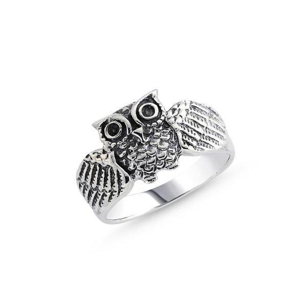 Stoneless Owl Ring - R84125