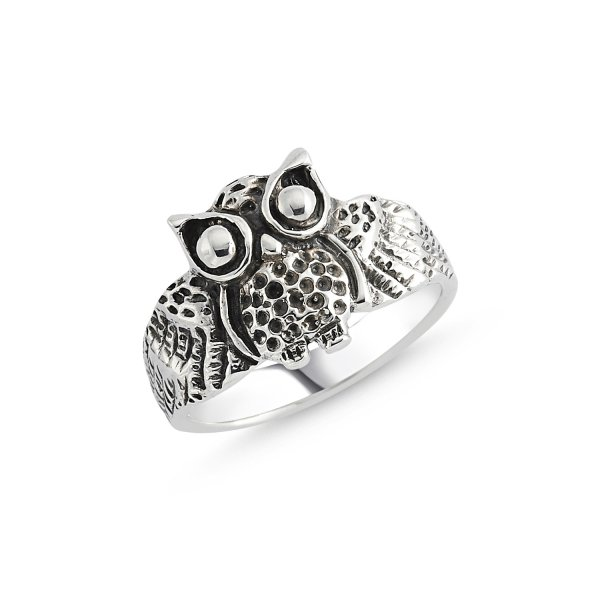 Stoneless Owl Ring - R84126