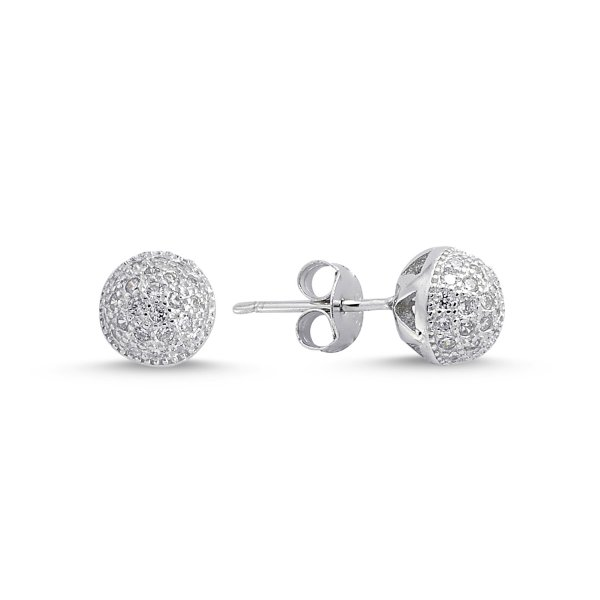 CZ Ball Earrings  - E84303