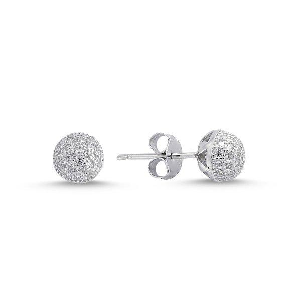 CZ Ball Earrings - E84304