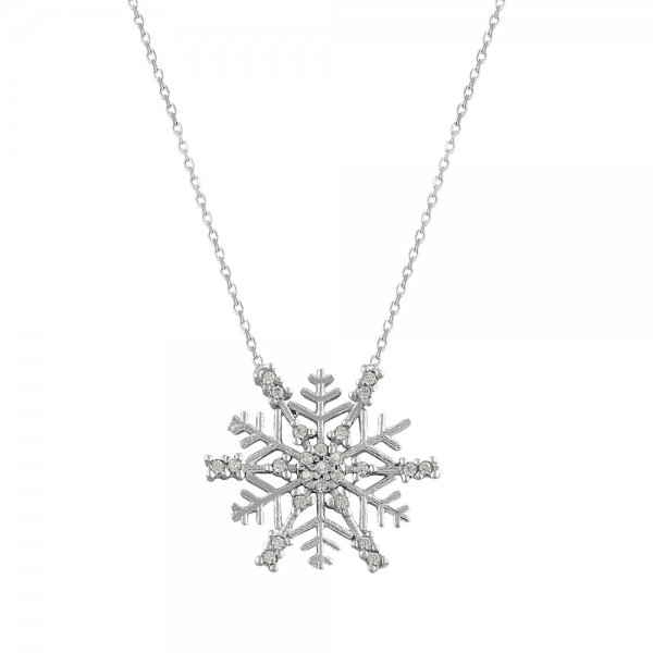 CZ Snowflake Necklace - N84425