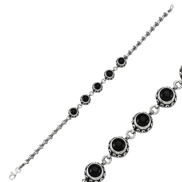 Onyx Stone Handmade Bracelet - B84427