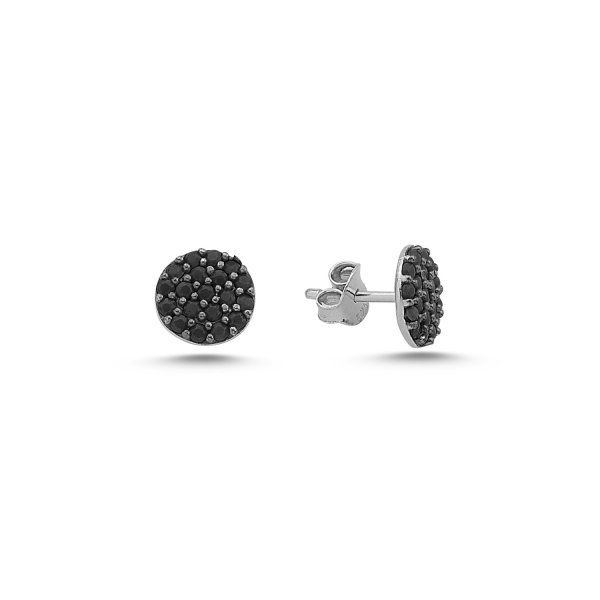 CZ Round Stud Earrings - E84442
