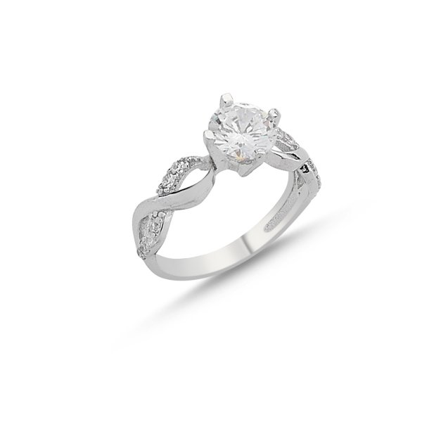 CZ Infinity Design Solitaire Ring - R84549