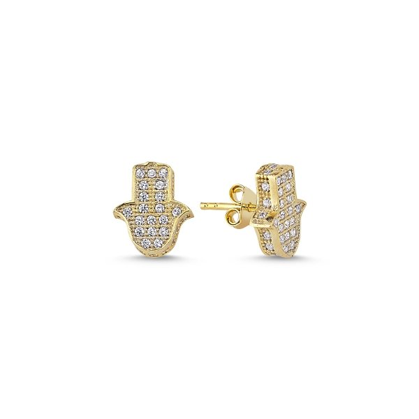 CZ Hamsa Earrings - E84580