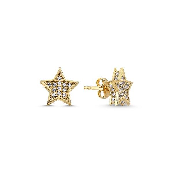 CZ Star Earrings - E84582
