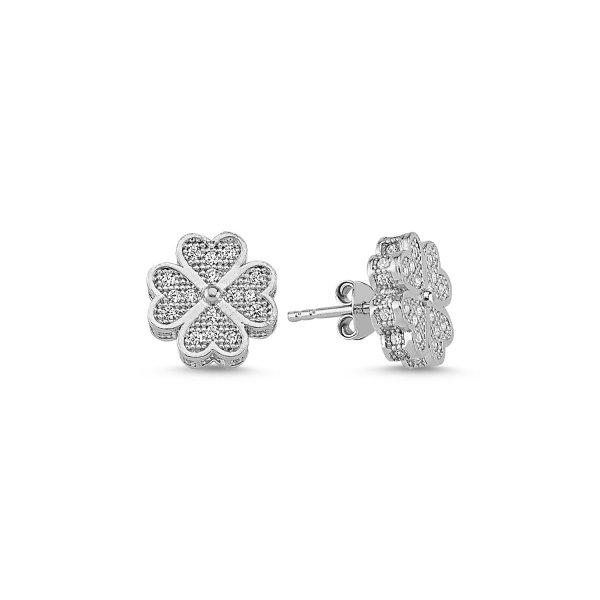 CZ Clover Earrings - E84585