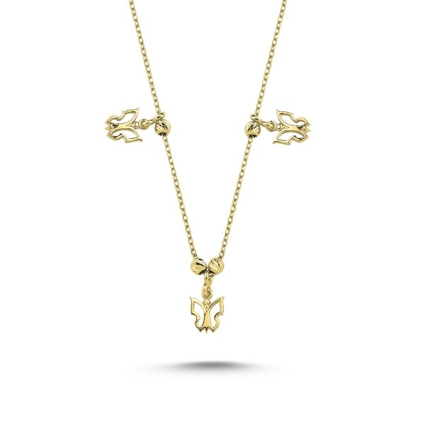 Stoneless butterfly Necklace  - N84937