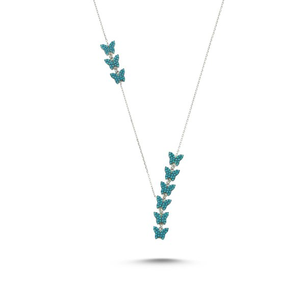 Nano Turquoise Stone Butterfly Y Necklace - N84991