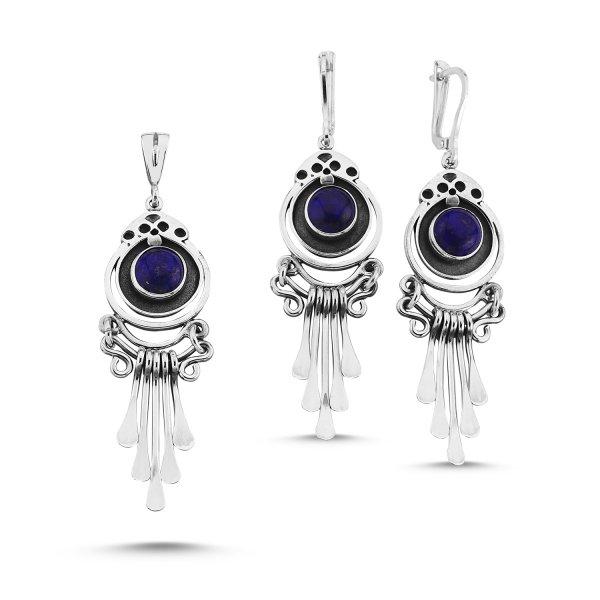 Handmade Set with Lapis Lazuli - S85314