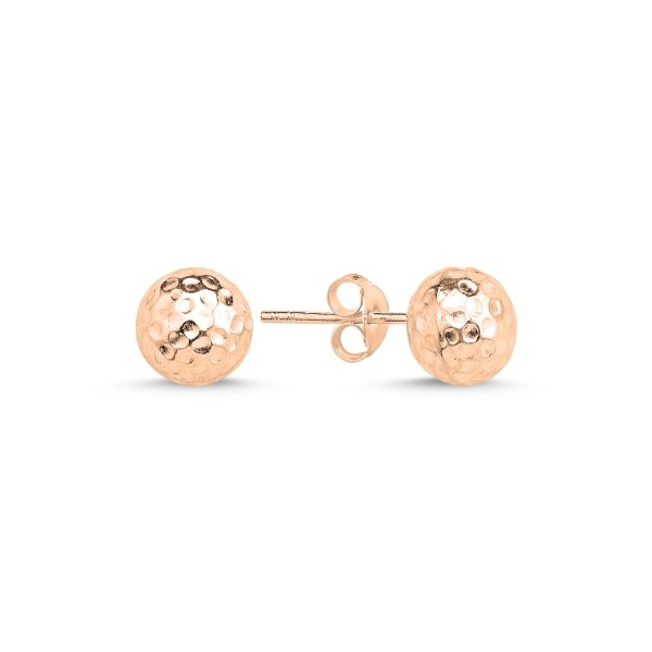 612628c6c Sterling Silver 8mm Hammered Ball Stud Earrings - E86852   Şile ...