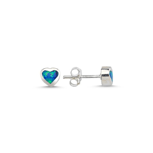 Opal Heart Earrings - E08835