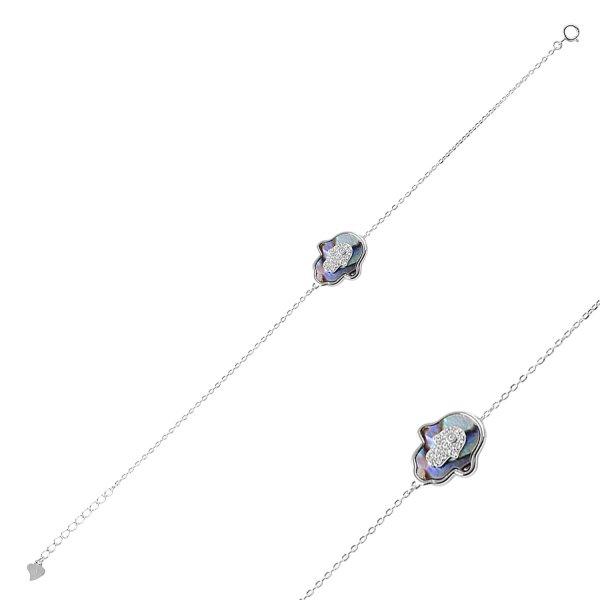 CZ Hamsa Bracelet - B88791