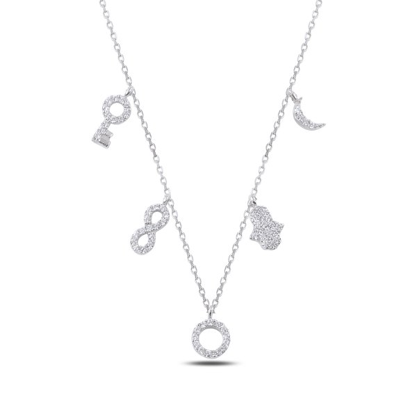 CZ Dangle Necklace - N89277
