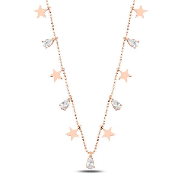 Teardrop CZ Dangle Necklace - N89278