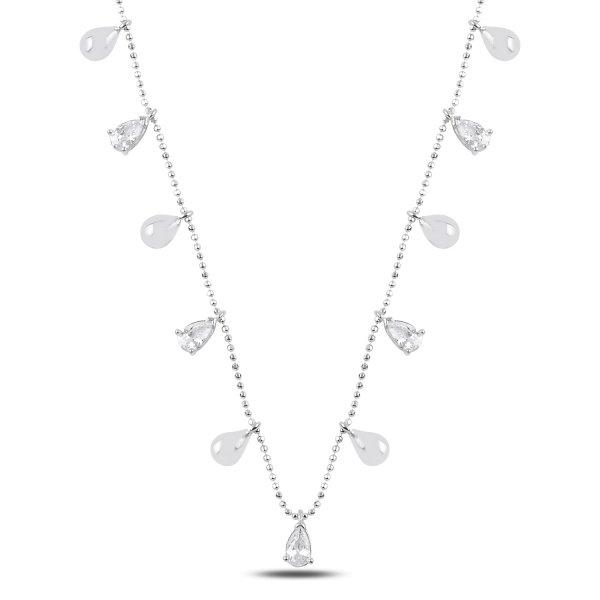 Teardrop CZ Dangle Necklace - N89279