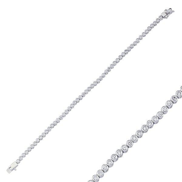 2.5mm CZ Line Bracelet - B08949