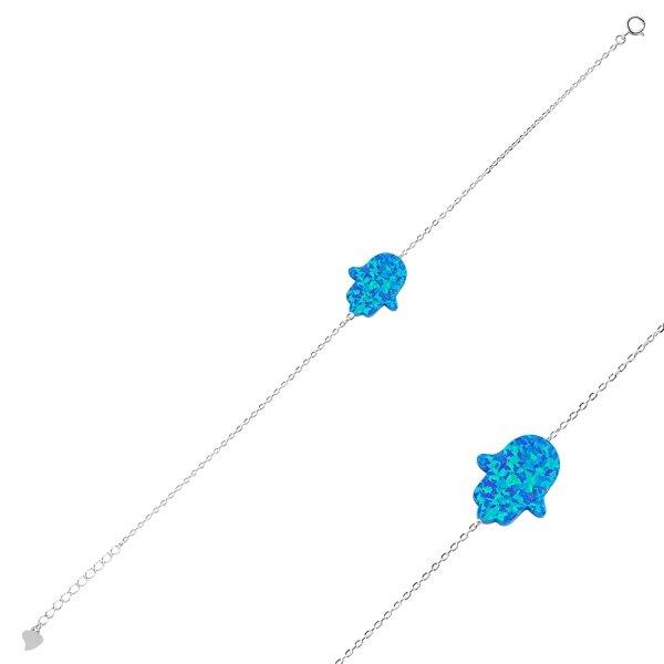 Blue Opal Hamsa Bracelet - B89513