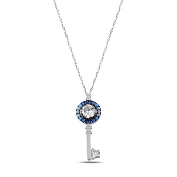 Nano Shades of Blue Key Necklace - N89761