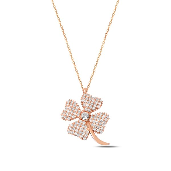CZ Clover Necklace - N89766