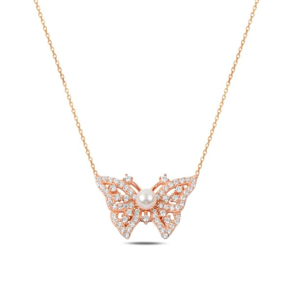 CZ Butterfly Necklace - N89767