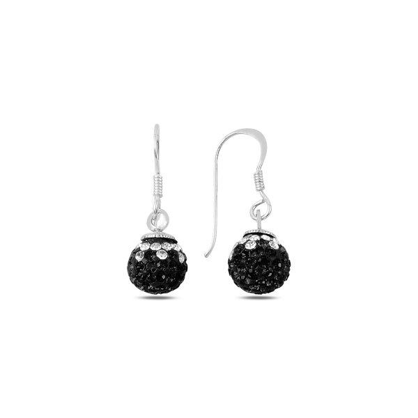 CZ Dangle Ball Earrings - E89912