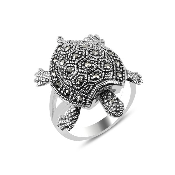 Marcasite Movable Turtle Ring - R89921