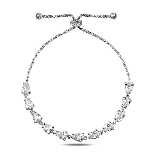 CZ Tennis Adjustable Sliding Bracelet - B90312
