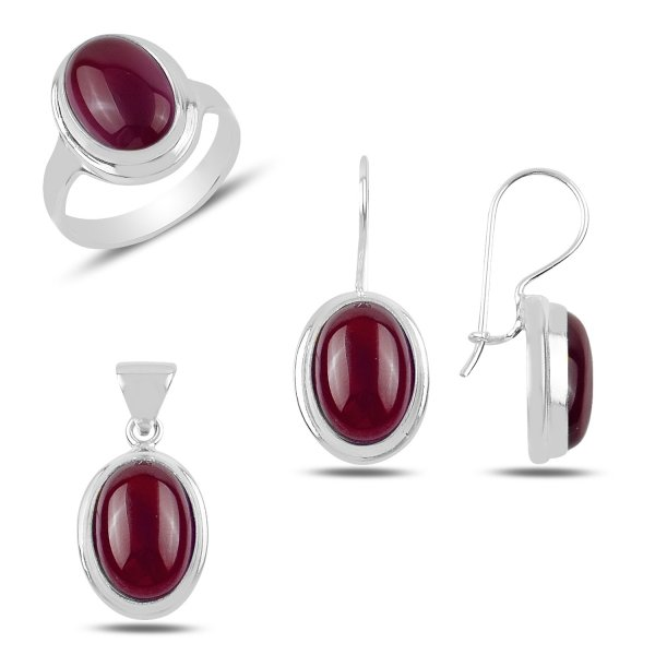 Red Agate Handmade Set - S92028