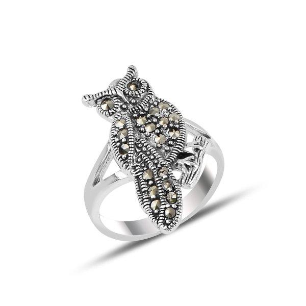 Marcasite Owl Ring - R92517