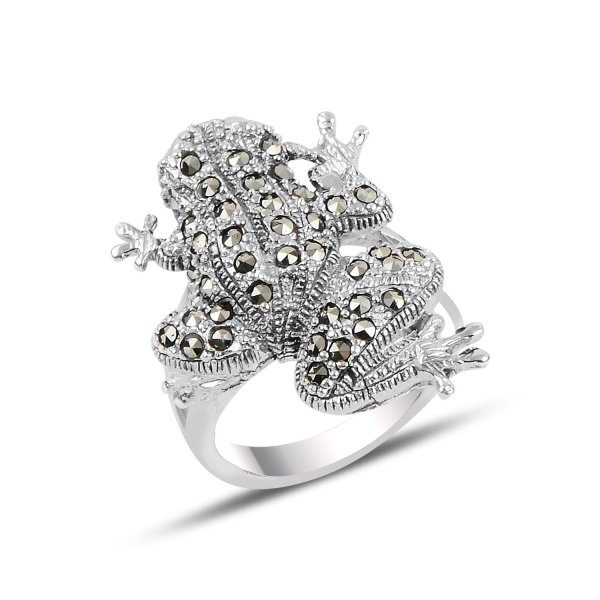 Marcasite Frog Ring - R92519