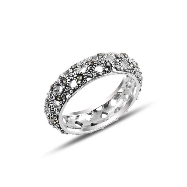 Marcasite Eternity Ring - R92526