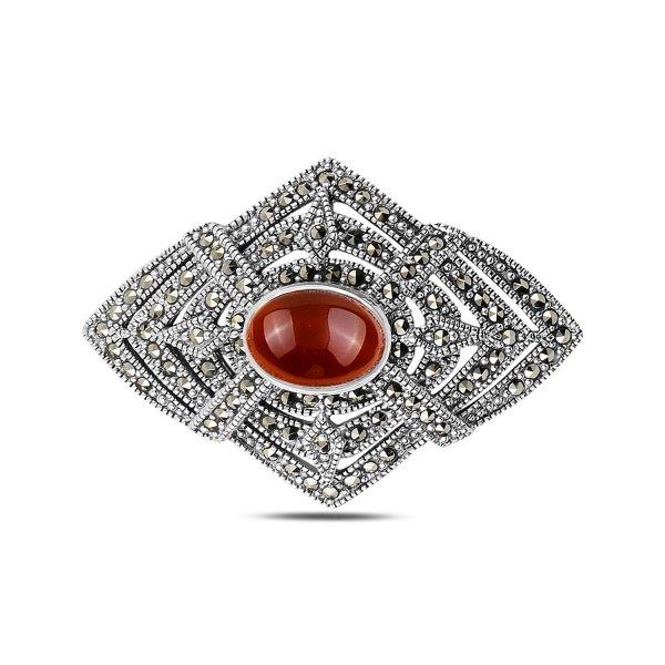 Gemstone & Marcasite Brooch & Pendant - P92739
