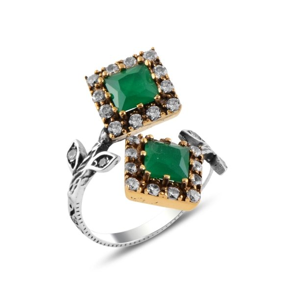 Ottoman Style Adjustable Size CZ Ring - R92953