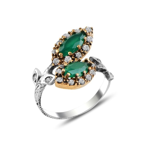 Ottoman Style Adjustable Size CZ Ring - R92955