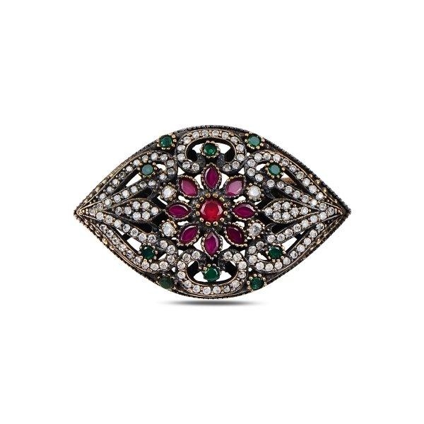 CZ Ottoman Style Brooch - BR93714