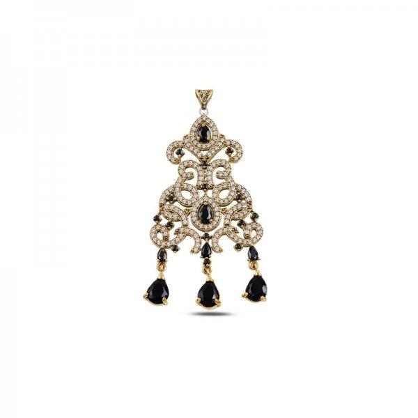Drop CZ Ottoman Style Pendant - P93718