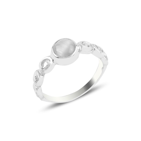 Mother of Pearl Stone Solitare Ring - R93815