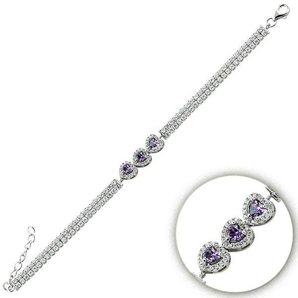 Silver Gemstone Bracelet - B09315