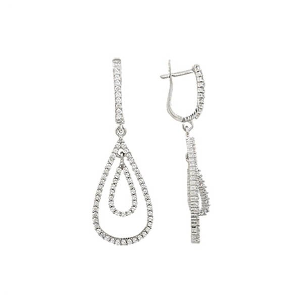 Silver Gemstone Earrings - E01402