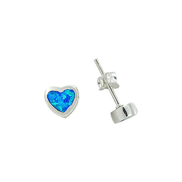Opal Heart Earrings - E08835