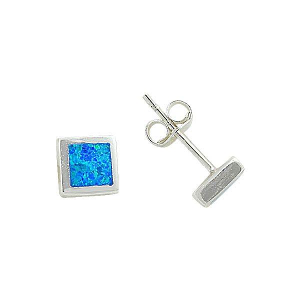 6.5mm Square Opal Earrings - E08837