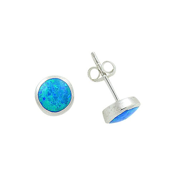 8.5mm Round Opal Earrings - E08838