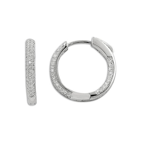 Zirconia Hoop Earrings - E09816