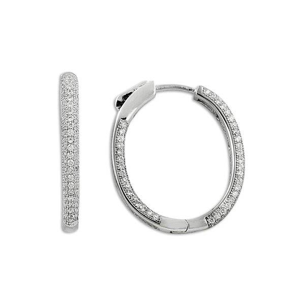 Zirconia Hoop Earrings - E09819