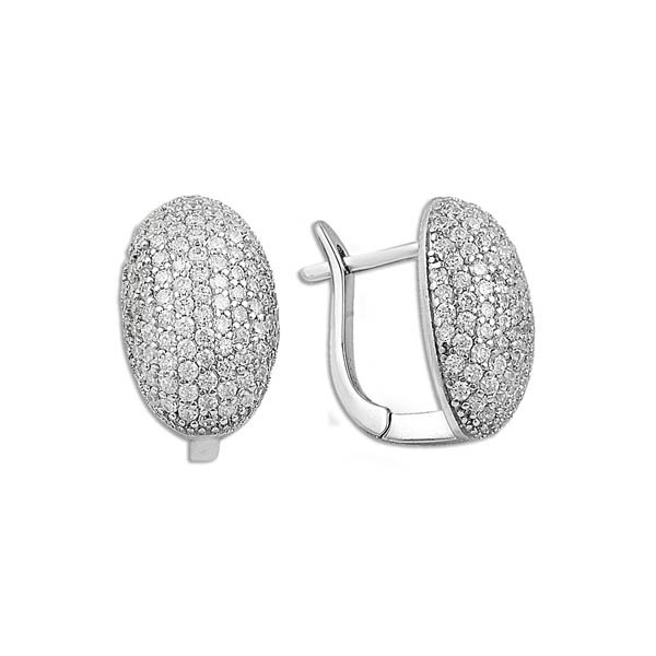 Micro Pave Zirconia Setting Earrings - E09902